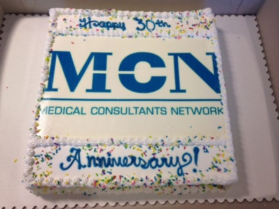MCN's birthday arty includes a some cake!